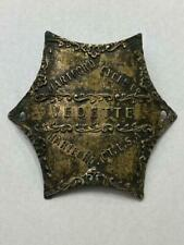 EARLY antique VEDETTE HEAD BADGE tag Hartford, CT Star