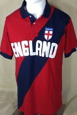England Rugby Shirt Mens Size Large Red with Crest on Chest