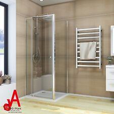 900x900x1900mm Shower Screen Adjustable Semi Frameless Corner Enclosure