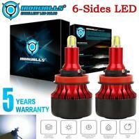 IRONWALLH11 2000W 300000LM LED Headlight Bulbs Conversion Kit 6000K Hi/Low Beam