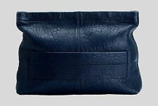 New Samsoe & Samsoe Navy Blue Lambs Leather Romain Clutch Strap  Hand Bag