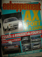 revue ECHAPPEMENT 1986 RENAULT MAXI 5 TURBO + PRODUC + 11 GR.A + ALPINE GT CUP