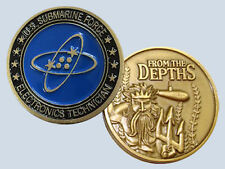 Submarine Rate ET Electronics Technician Insignia Commemorative Coin USN