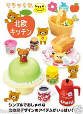 Sanrio Re-ment Miniature San-x Rilakkuma Hokuou Kitchen rement Full Set of 8