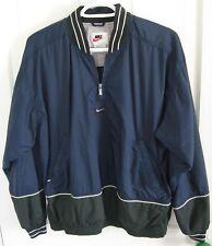 NIKE Men's Pullover Jacket Windbreaker Coat Medium Blue Green Nylon Lined