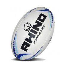 Rhino Rugby Hurricane Training Ball - White, Blue (New)