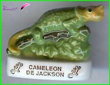 """Feve Les Reptiles Edition Atlas """" Le Caméléon de Jackson"""" lizard #D33"""