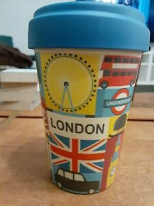 LONDON BambooBig Ben Bus Travel Mug New