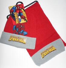 Spider-Man Sense * Schal + Mütze* Rot / Grau * Motiv Spider * Winter-Set * Neu