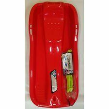 Kinder Bob Race Schlitten rot mit Bremse und Zugseil Super neu