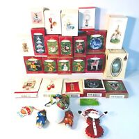 Vintage Lot of 26 Hallmark Keepsake & Misc. Brand Ornaments Excellent Condition