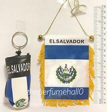 El Salvador Mini Flag Banner Boxing Glove Key Ring car rear view mirror