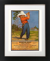 Antique PINEHURST Golf Course Hotel Club House Golfing BOY Sports Art Print