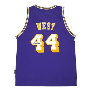 Jerry West signed Reebok Los Angeles Lakers Purple Soul Swingman Jersey JSA