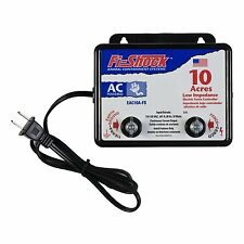 10 ACRE ELECTRIC FENCE CHARGER cattle farm horse power barbed wire goat pig gift