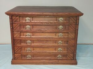 Antique Willimantic, 6 Drawer Spool Cabinet, Super Nice, Rare