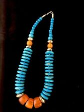 JK Coral & Turquoise Necklace #599