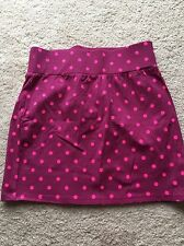 Old Navy ~ Girl's Purple Plum Knit Skirt with Pink Polka Dots ~ Never Worn ~ XL