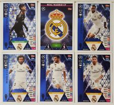 topps MATCH ATTAX UEFA CHAMPIONS LEAGUE 2018/19 REAL MADRID Card Set of 18 # 37