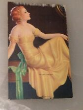 "Pin Up Girl Original Mutoscope card ""Right Dress"" v2 1940's WWII American Girls"
