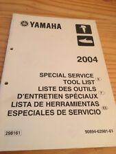 Yamaha moteur hors bord liste outillage tool list revue technique manuel 2004