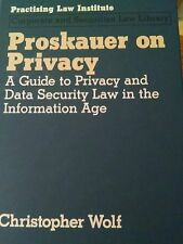 Proskauer on Privacy : A Guide to Privacy and Data Security Law Book
