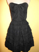 NWT $109 Roberta Black Strapless Cocktail Party Evening Dress Tiered Lace 5/ 6