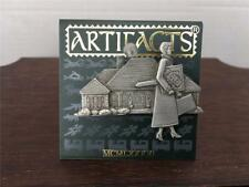 VTG New Silver JJ Signed Artifacts Real Estate Property Sold Brooch Pin Carded
