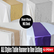 Bulk Hessian Satin Sequin Table Runners Cloth Party Wedding Events Decoration