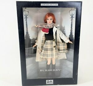 2000 BURBERRY Limited Edition Mattel Barbie Collectibles Designer Fashion Doll