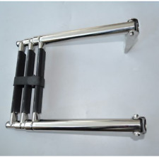New 3-Step Platform Mounted Boat Boarding Ladder, Telescoping/Stainless Steel