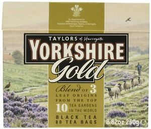 Taylors Yorkshire Gold 80 Teabags 250G - Sold Worldwide from UK