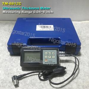 LANDTEK TM-8812C Ultrasonic Thickness Meter Metal Steel Thickness Gauge Re0.01mm
