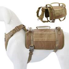 Strong Woking Dog Harness MOLLE K9 Training Vest Harness Adjustable Doberman M/L