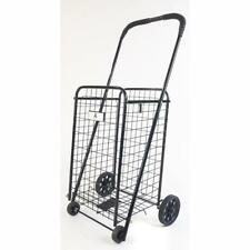 Athome Small Deluxe Rolling Utility / Shopping Cart - Stowable Folding Heavy Dut