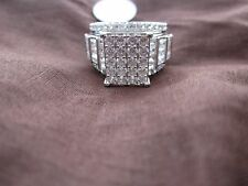 Women Fashion  925 Silver Ring Cinderella Size 8