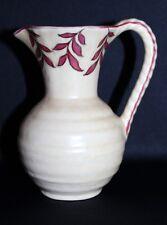 Vintage Crown Ducal Cream Ceramic Handled Jug Charlotte Rhead Inspired C 1939-52