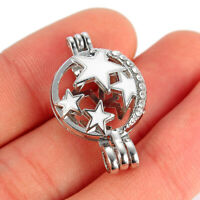 1Pc Star Oyster Pearl Cage Locket Pendant Aroma Oil Diffuser DIY Necklace Making