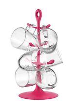 Bodum Tassenhalter COPENHAGEN mit 6 Gläsern 0,35 L Pink NEU! AK2110-XY-Y15-11