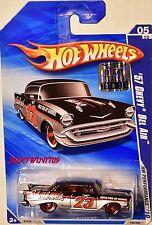 Hot Wheels 2010 Hw Performance '57 Chevy Bel Air # 05/10 Noir Usine Scellé W+