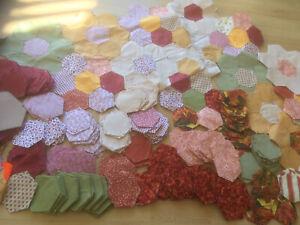 Patchwork Quilt Hexagon 100's Pieces Job Lot Bundle