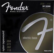Genuine Fender® 9120M Nylon Tapewound Bass Strings, Set of 4 073-9120-406