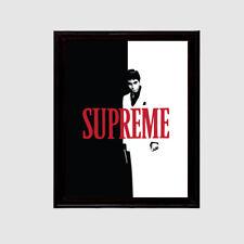 SUPREME SCARFACE ART POSTER PRINT STREETWEAR BOX LOGO