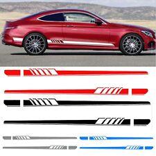 2xAuto Aufkleber Rennstreifen Rally Streifen Zierstreifen Für Mercedes Benz C DE