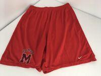 VTG 90s Mississippi Ole Miss Rebels Nike Mesh Basketball Shorts M GREY TAG Red