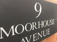 QUALITY SLATE DOOR GATE HOUSE SIGN PLAQUE 300 X 150MM ANY NAME / NUMBER