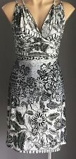 Beautiful BE.IN Black & Grey Floral Print Knee Length Empire Waist Dress Size 8