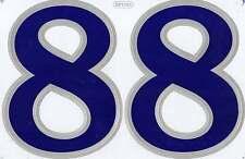 "D503 BIG NUMBER 8 blue Racing Tuning Sticker Decal 1 Sheet 10,5""x7"" / 27x18 cm"