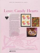 #701 37c Love: Candy Hearts #3833 USPS Commemorative Stamp Panel