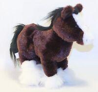 "Ganz Webkinz 11"" Clydesdale Horse HM139) Pony Soft Plush Lovey Stuffed Animal"